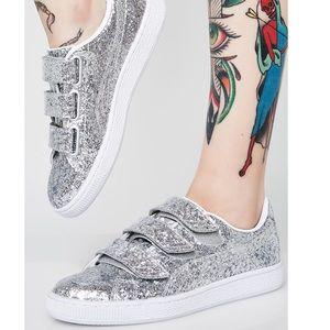 PUMA Basket Strap Glitter Women's Sneakers